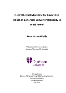 Doctoral thesis on wind turbines