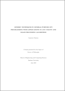 Generic Techniques in General Purpose GPU Programming with