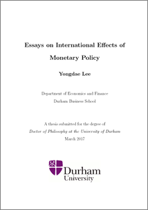 essays on international effects of monetary policy durham e theses preview