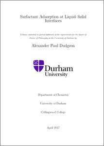 Phd thesis adsorption