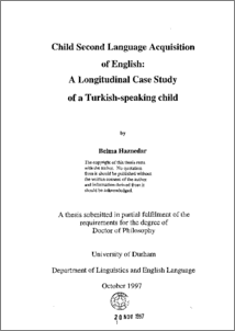 Phd thesis second language acquisition