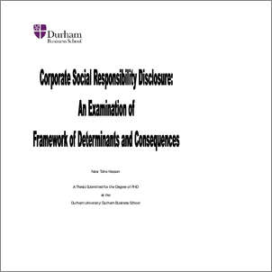 Doctoral thesis corporate social responsibility