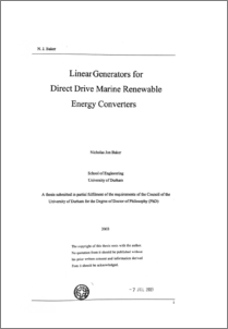 thesis on linear generators