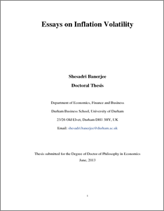 Phd thesis on inflation
