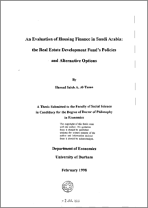 thesis on real estate economics